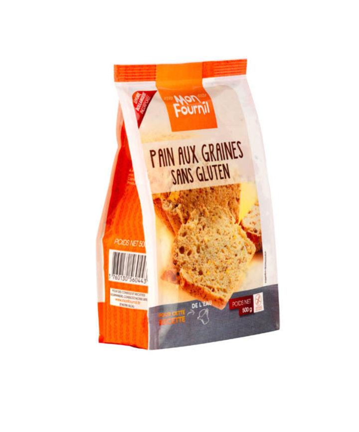 farine pour pain aux graines sans gluten avec levure mon fournil. Black Bedroom Furniture Sets. Home Design Ideas