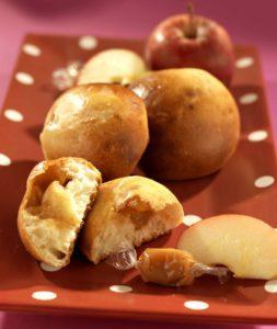 Brioche fondantes pommes caramel