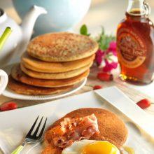 Pancakes à la farine de sarrasin et farine de maïs
