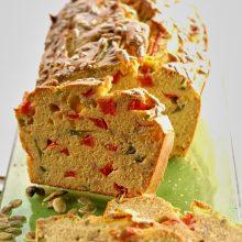 Cake aux poivrons et graines de tournesol