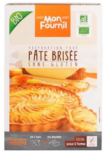pâte brisée packaging bio sans gluten mon fournil