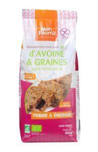 Préparation pain d'avoine et graines bio sans gluten Mon Fournil
