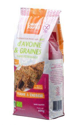 Farine pour Pain d'avoine et graines Bio