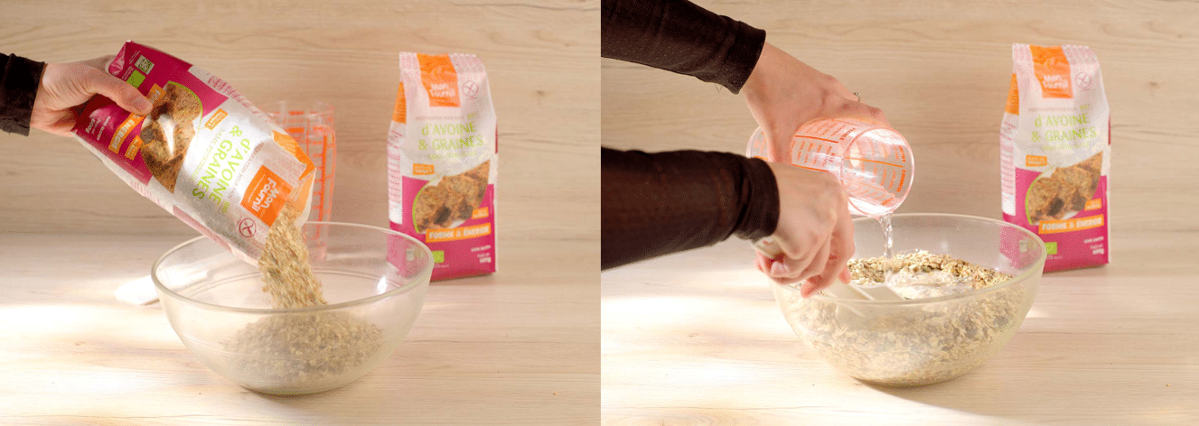 réalisation du pain d'avoine et graines bio
