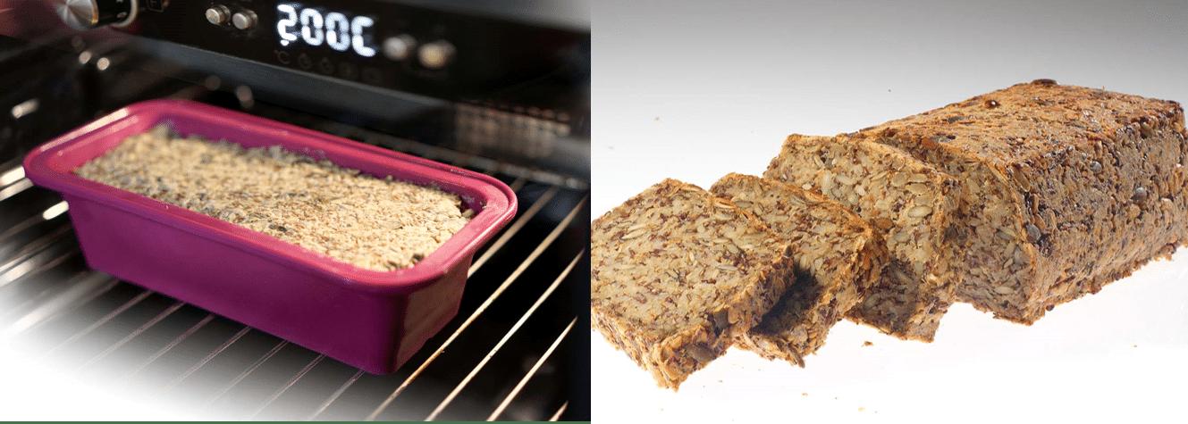 réalisation du pain d'avoine et graines bio mon fournil