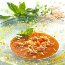 Soupe à l'épeautre façon minestrone