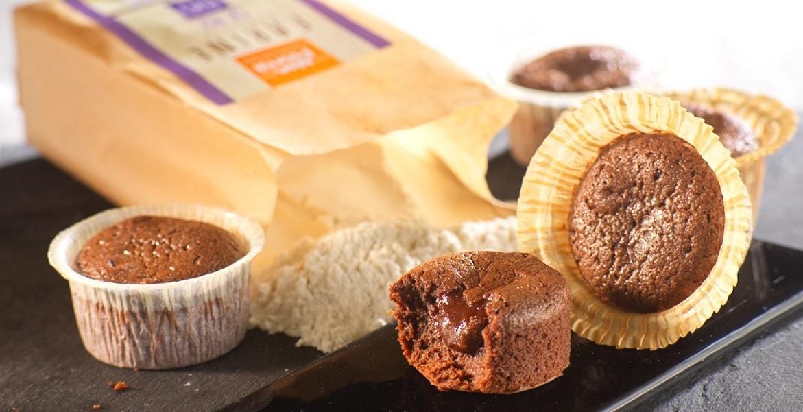 fondant chocolat à la farine de riz bio sans gluten