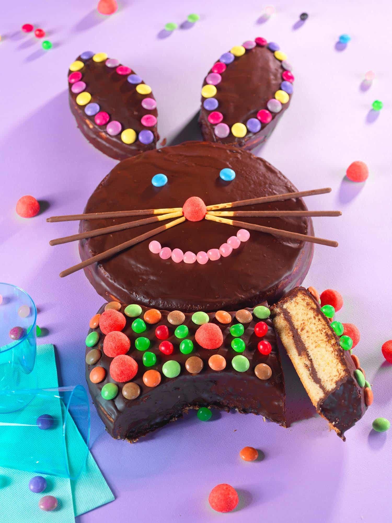 gâteau lapin génoise chocolat