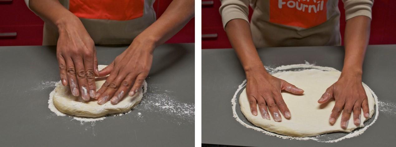 façonnage pizza maison
