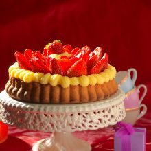 Tarte génoise aux fraises