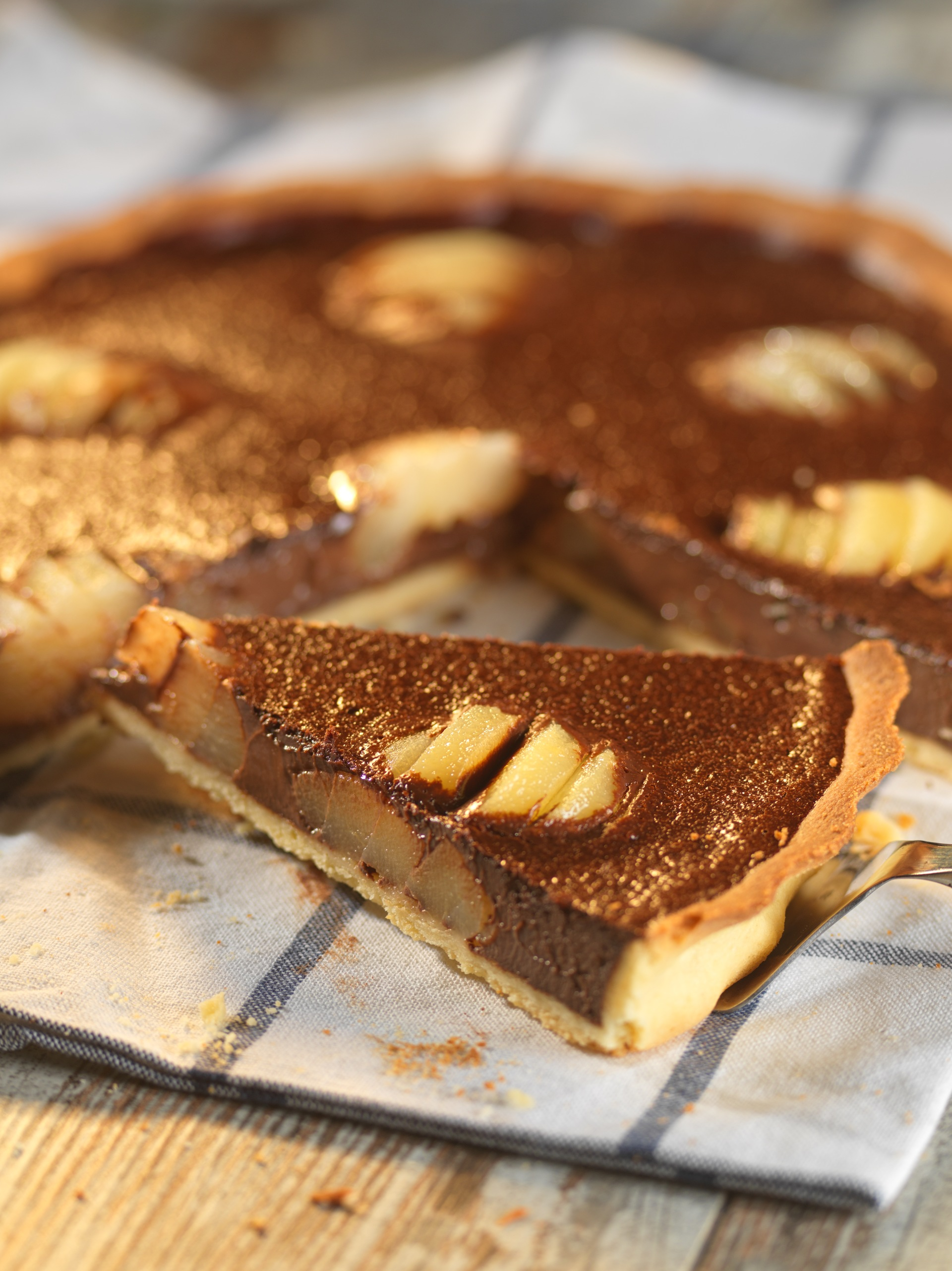 tarte poire chocolat maison mon fournil